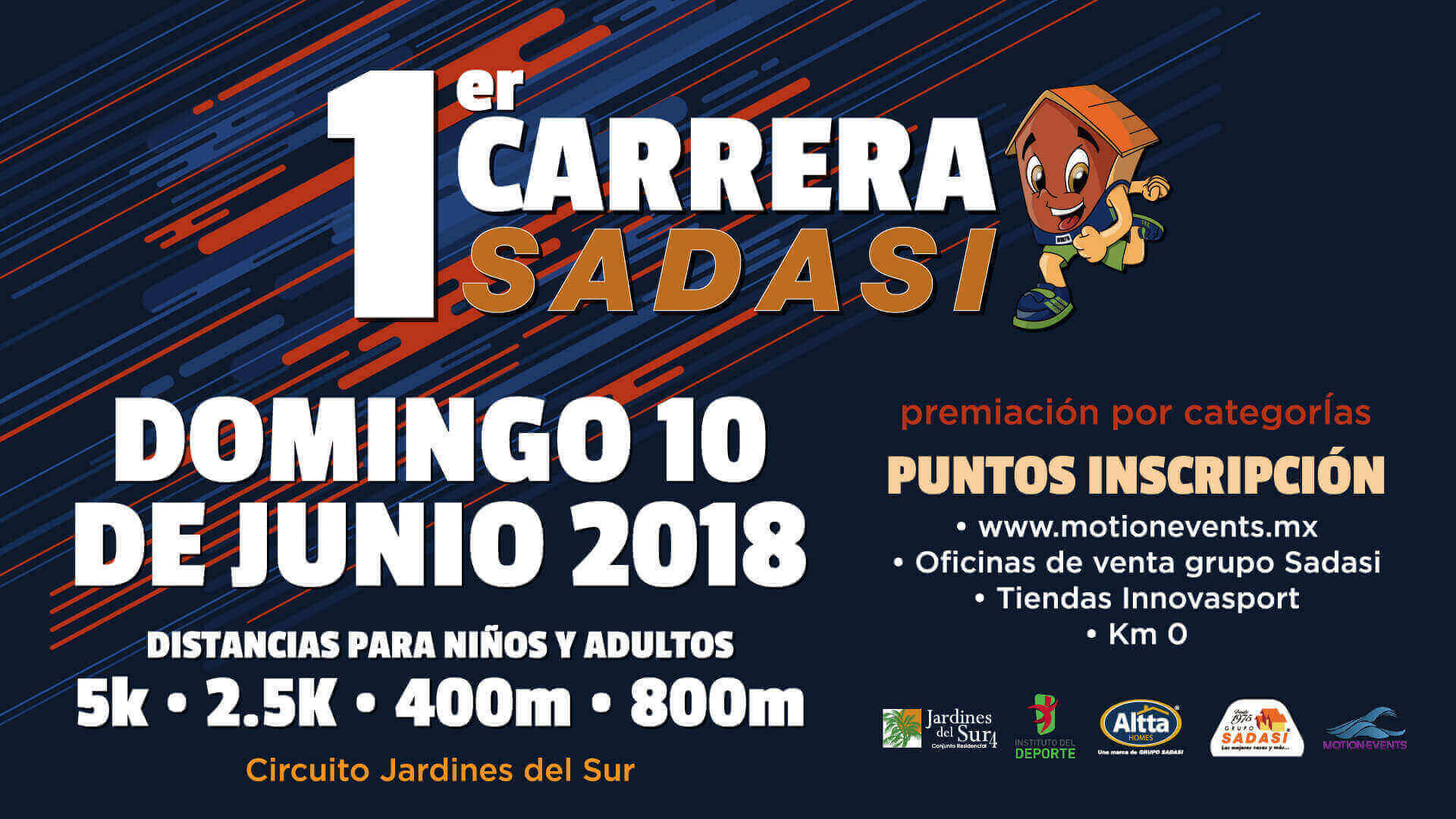 Carrera Sadasi Cancun 2018