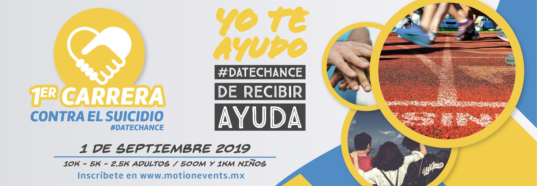 Banner Carrera Contra El Suicidio Date Chance