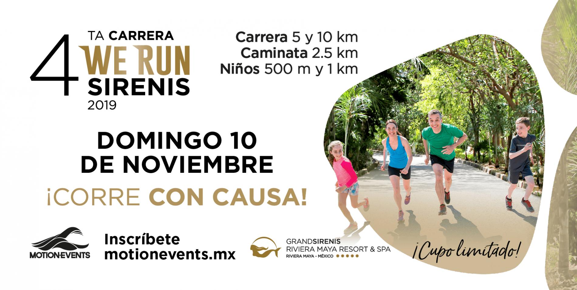 Inscribete A La Cuarta Carrera We Run Sirenis 2019